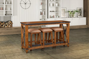Sunset Trading Rustic City 4 Piece Counter Dining Set