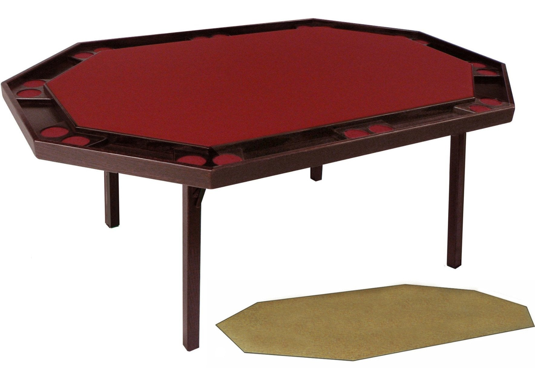 Oak Deluxe Folding Poker Table (includes a utility service top), by Kestell, O-872