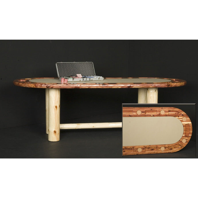 Poker Table in Red Cedar by Viking Log Furniture