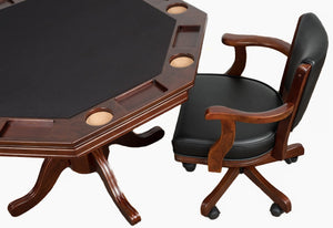 Presidential Billiards Octagonal Poker & Dining Table Set with 6 Matching Chairs by Presidential Billiards - HomeKingz.com - Online furniture shop with the best prices & premium customer support!