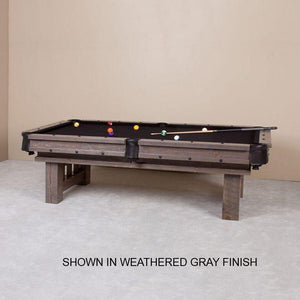 Rustic Barnwood Cheyenne Pool Table by Viking Log Furniture