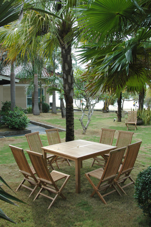 Windsor Classic Chair 7-Pieces Folding Dining Set