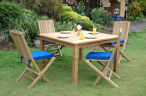Windsor Comfort Chair 7-Pieces Folding Dining Set