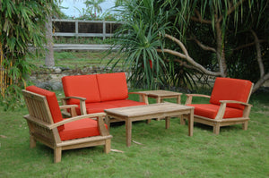 Brianna Bahama 5-Pieces Deep Seating Loveseat Set by Anderson Teak - HomeKingz.com - Online furniture shop with the best prices & premium customer support!
