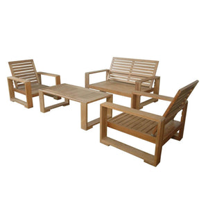 Capistrano 5-Piece Deep Seating Loveseat Collection by Anderson Teak - HomeKingz.com - Online furniture shop with the best prices & premium customer support!