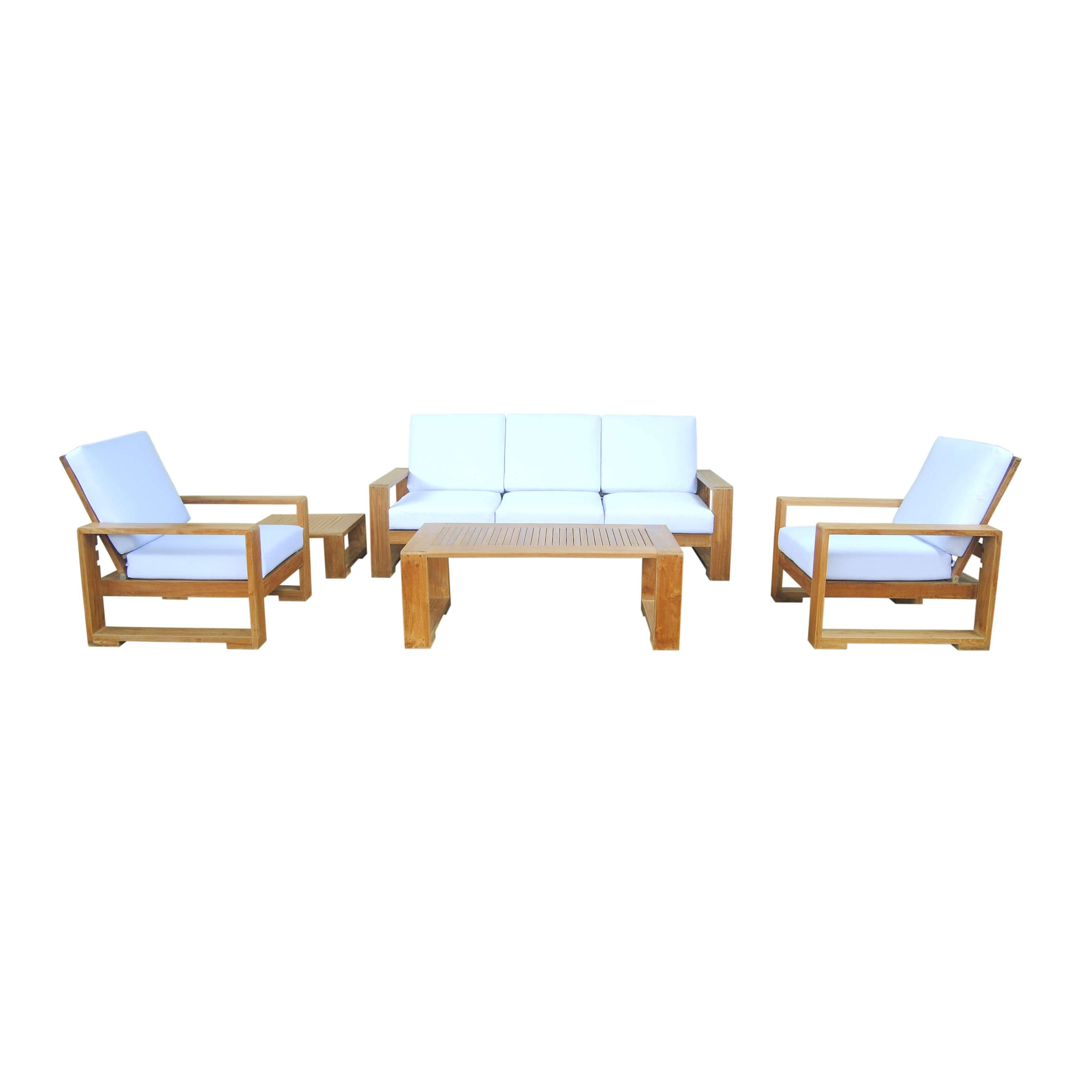 Capistrano 5-Piece Deep Seating Sofa Collection by Anderson Teak - HomeKingz.com - Online furniture shop with the best prices & premium customer support!