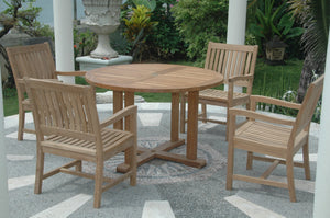 Tosca Rialto Armchair 5-Pieces Dining Set