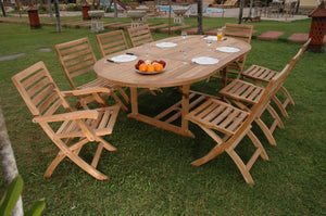 Bahama Andrew 9-Pieces Dining Set by Anderson Teak - HomeKingz.com - Online furniture shop with the best prices & premium customer support!