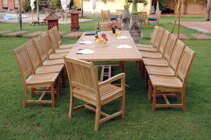 Valencia Rialto 15-Pieces Dining Set by Anderson Teak - HomeKingz.com - Online furniture shop with the best prices & premium customer support!