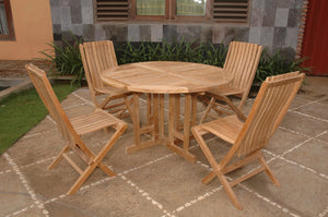 Butterfly Comfort 5-Pieces Dining Table Set