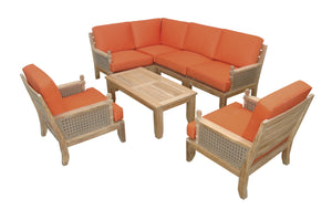 Luxe 7-Pieces Modular Set by Anderson Teak - HomeKingz.com - Online furniture shop with the best prices & premium customer support!