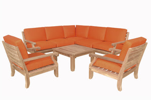 Riviera Luxe 8-Pieces Modular Set by Anderson Teak - HomeKingz.com - Online furniture shop with the best prices & premium customer support!