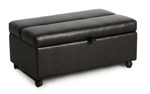 Sunset Trading Bonded Leather Sleeper Ottoman