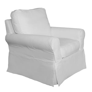 Sunset Trading Horizon Slipcover Set For Box Cushion Chair and Ottoman