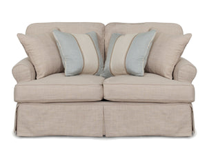 Sunset Trading Horizon T-Cushion Slipcovered Loveseat