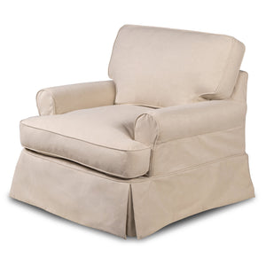 Sunset Trading Horizon Slipcovered T-Cushion Chair with Ottoman