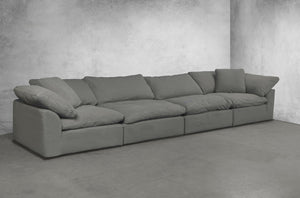 Sunset Trading Cloud Puff 4 Piece Slipcovered Modular Sectional Sofa by Sunset Trading - HomeKingz.com - Online furniture shop with the best prices & premium customer support!