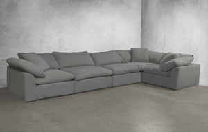 Sunset Trading Cloud Puff 5 Piece Slipcovered Modular Sectional Sofa by Sunset Trading - HomeKingz.com - Online furniture shop with the best prices & premium customer support!