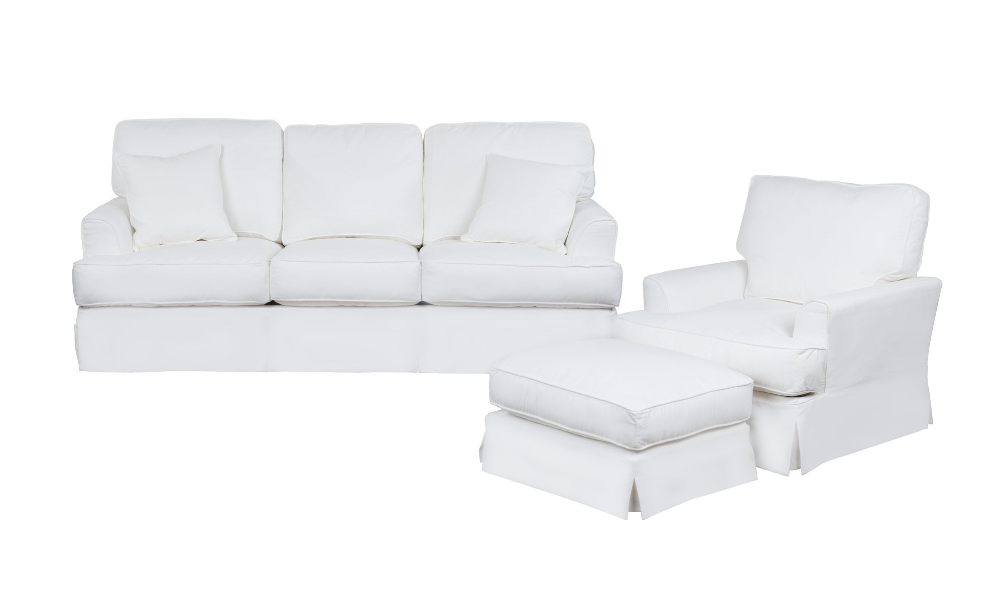 Sunset Trading Ariana 3 Piece Slipcovered Living Room Set by Sunset Trading - HomeKingz.com - Online furniture shop with the best prices & premium customer support!