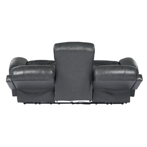 Sunset Trading Luxe Leather Reclining Sofa with Power Headrest
