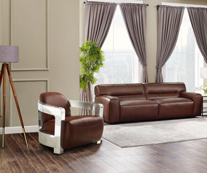 Sunset Trading Milan Leather 2 Piece Living Room Set -Brown by Sunset Trading - HomeKingz.com - Online furniture shop with the best prices & premium customer support!