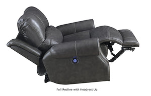 Sunset Trading Emerald Dual Reclining Loveseat with Power Headrest