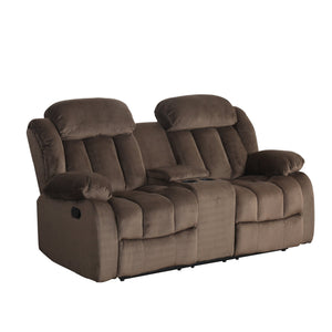 Sunset Trading Teddy Bear Reclining Loveseat with Console