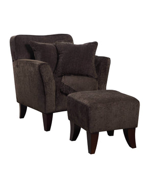 Sunset Trading Cozy Accent Chair with Ottoman