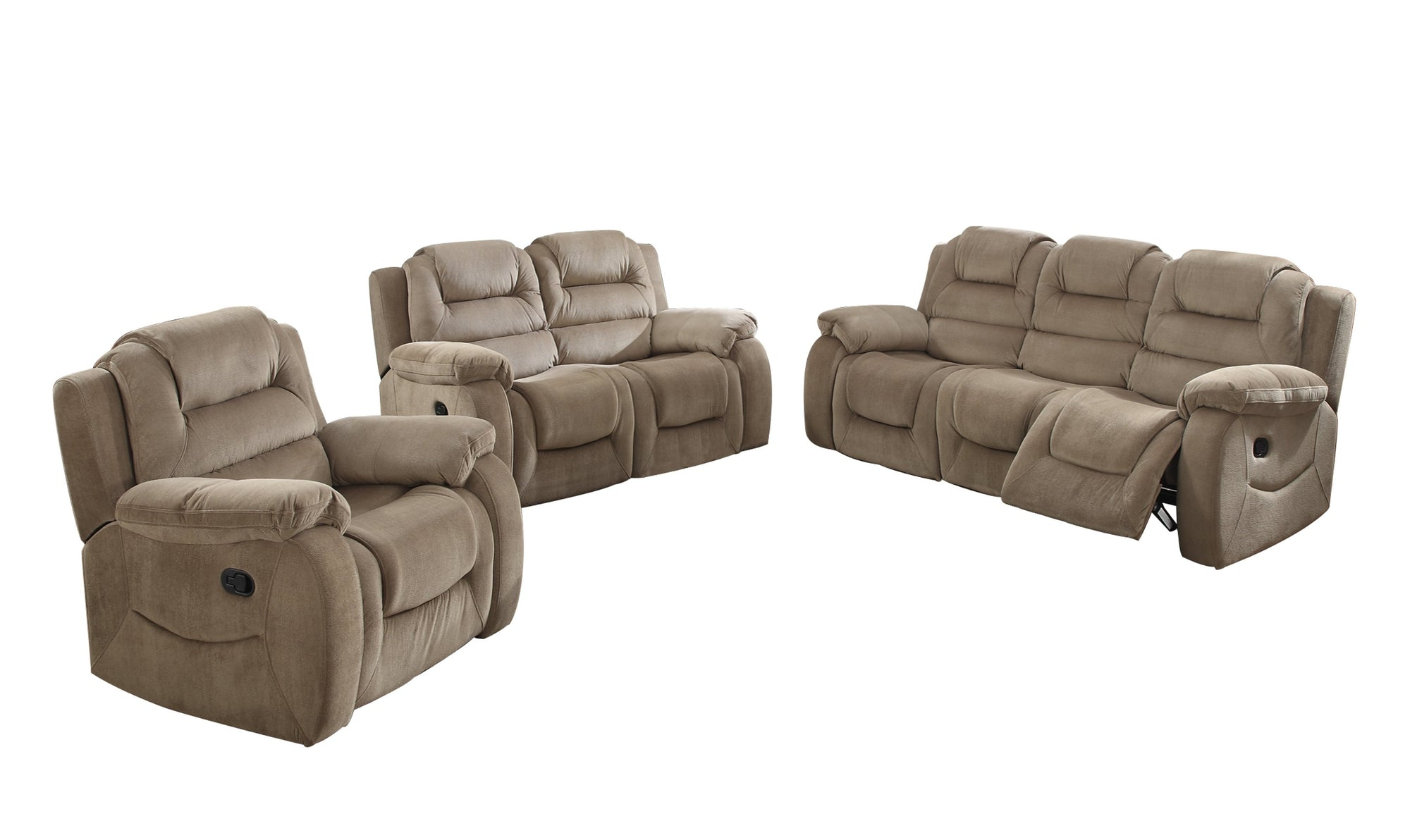 Sunset Trading Aspen 3 Piece Reclining Living Room Set by Sunset Trading - HomeKingz.com - Online furniture shop with the best prices & premium customer support!