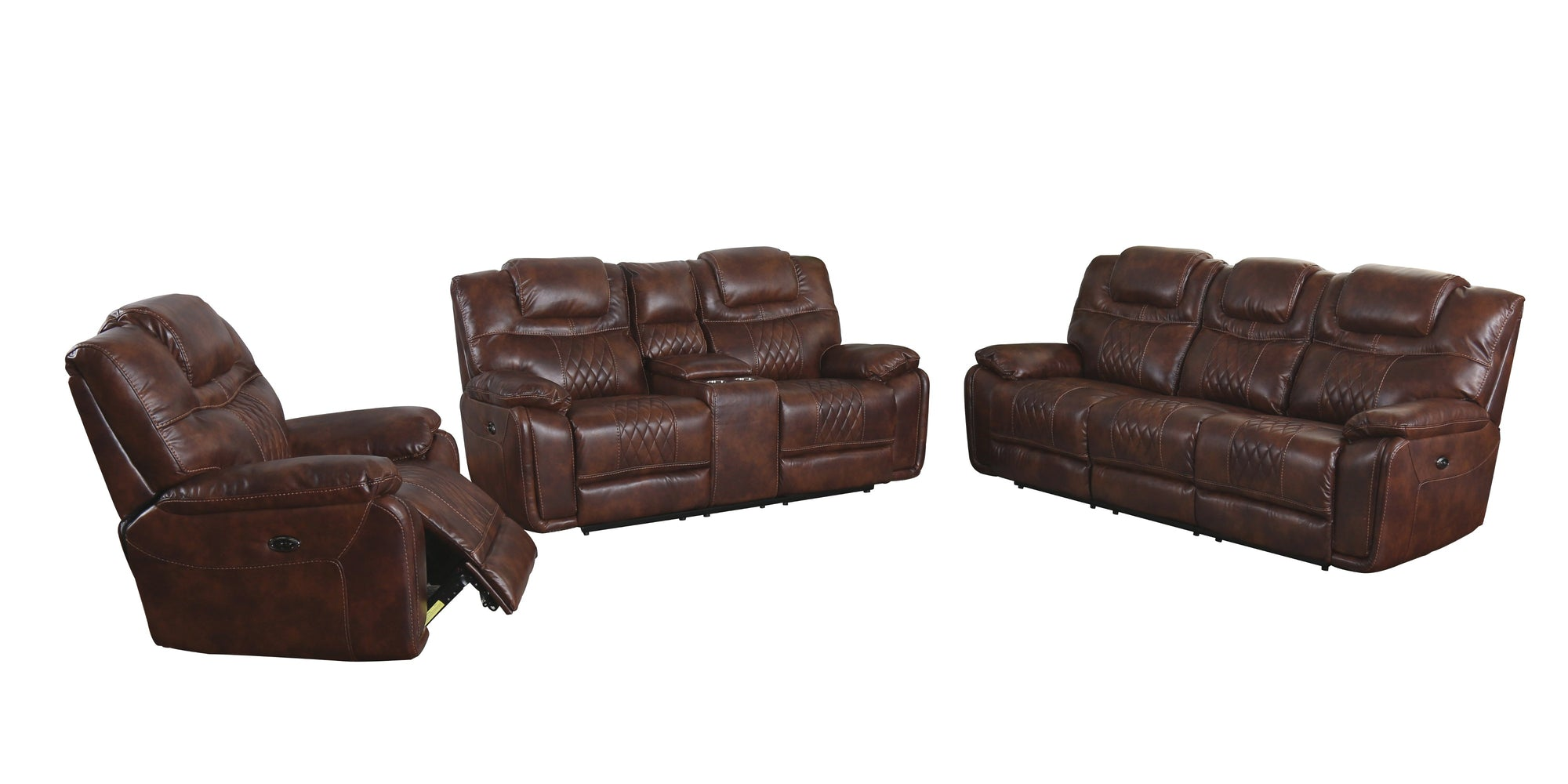 Sunset Trading Diamond Power 3 Piece Reclining Living Room Set by Sunset Trading - HomeKingz.com - Online furniture shop with the best prices & premium customer support!