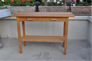 Atlanta Rectangular Serving Table w/ 2 Drawers and 1 Shelf