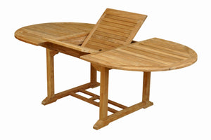 "Bahama 87"" Oval Extension Table Extra Thick Wood"