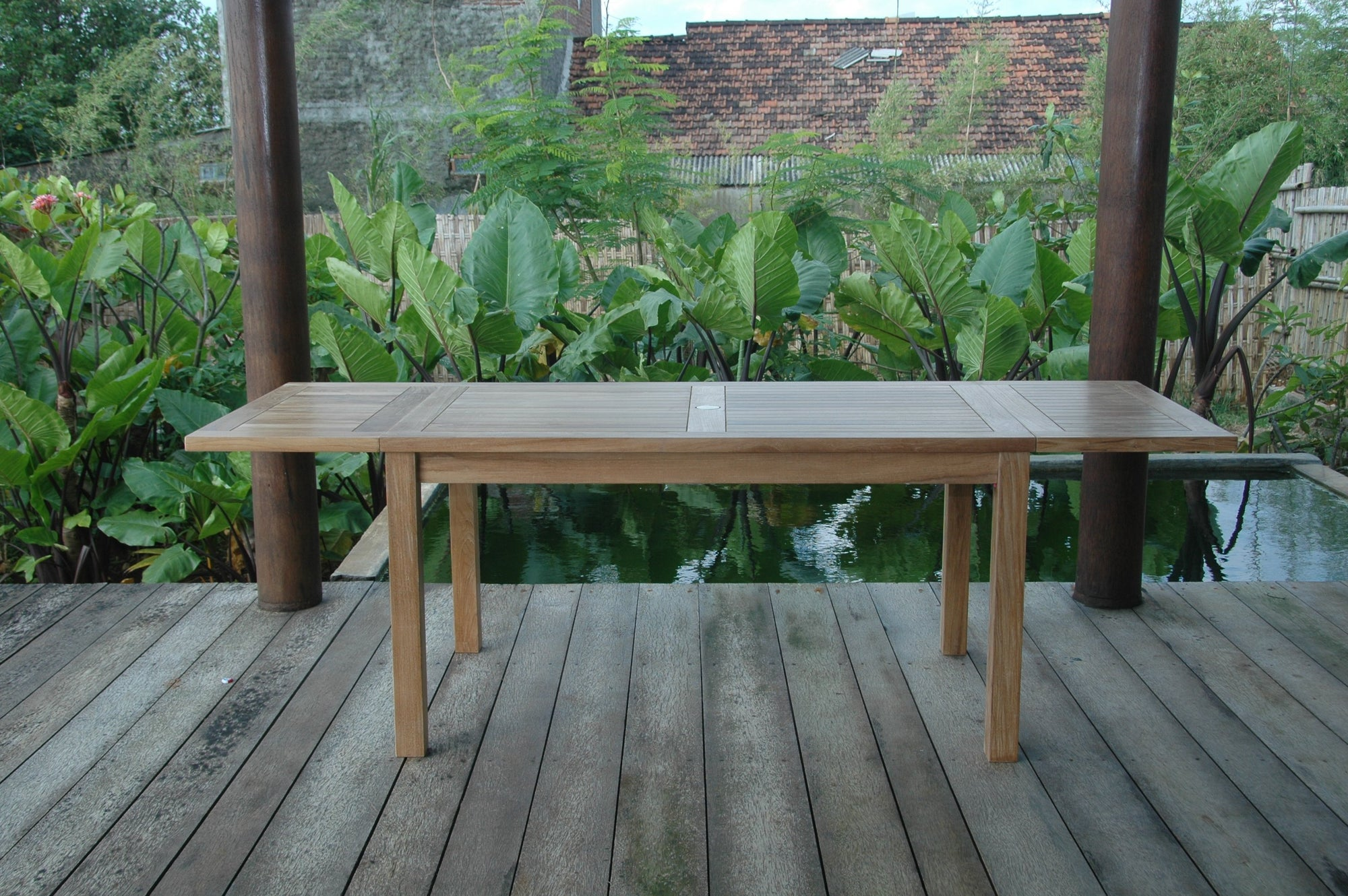 "Bahama 95"" Rectangular Table w/ Double Leaf Extensions"