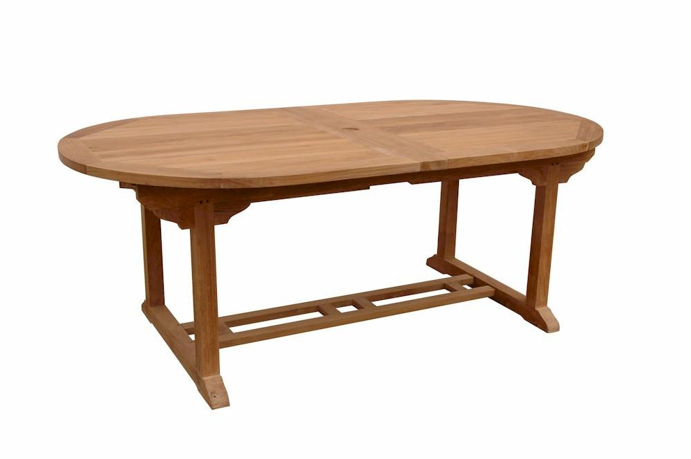 "Bahama 117"" Oval Extension Table w/ Double Extensions"