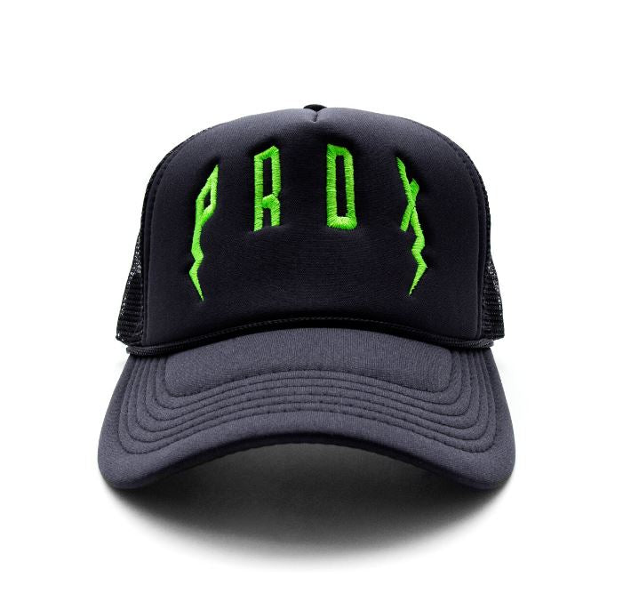 PRDX Trucker Hat (Black/Black/Green)