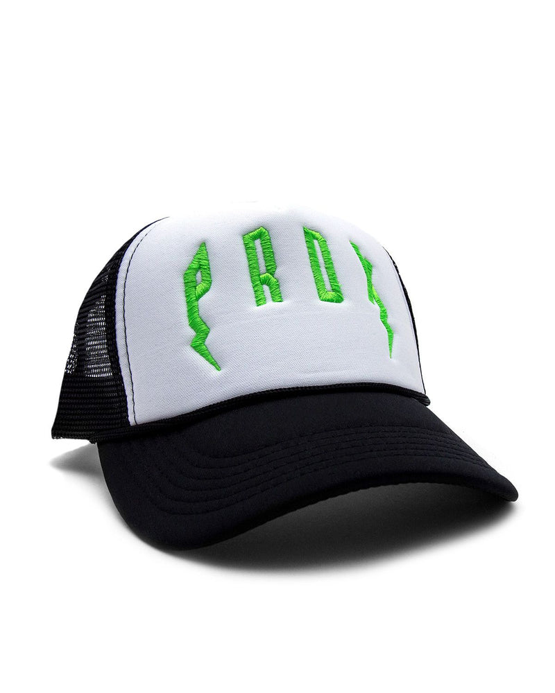 PRDX Trucker Hat (Black/White/Neon Green)