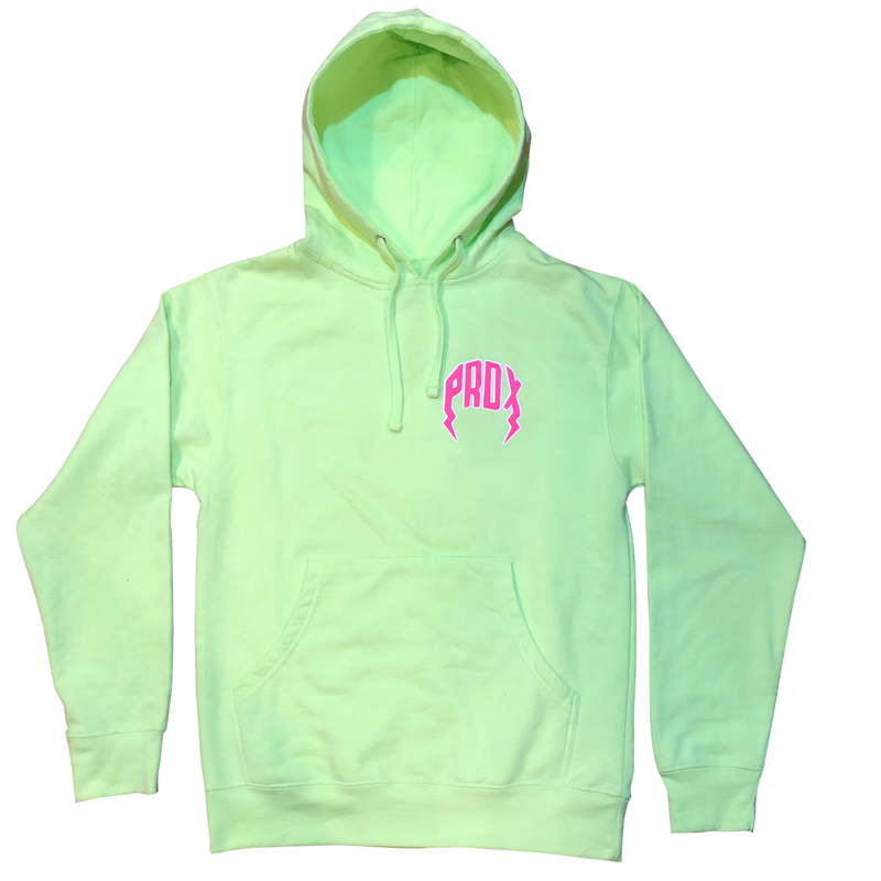 "Lightning Arc Logo Pull-Over Hoodie ""Kiwi"""