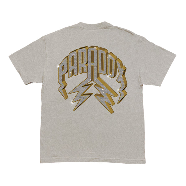"""VVS"" LIGHTNING ARC LOGO TEE (GREY)"