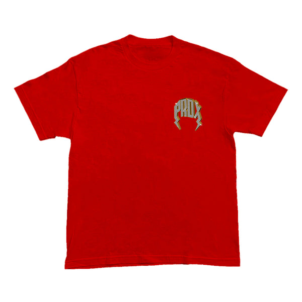 """VVS"" LIGHTNING ARC LOGO TEE (RED)"
