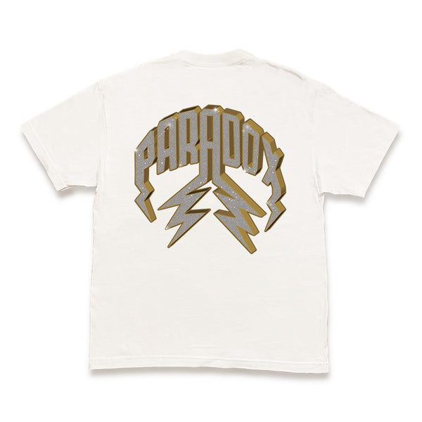 """VVS"" LIGHTNING ARC LOGO TEE (WHITE)"