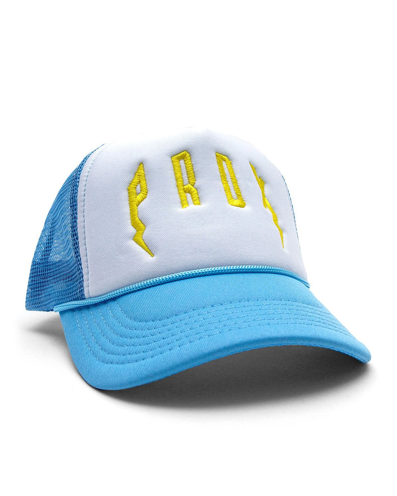 PRDX Trucker Hat (Light Blue/ White/ Yellow)