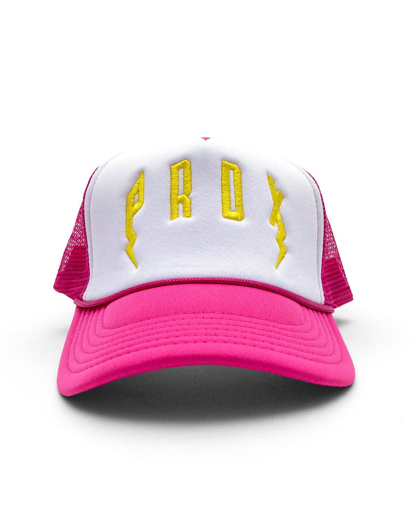 PRDX Trucker Hat (Pink/ White/Yellow)