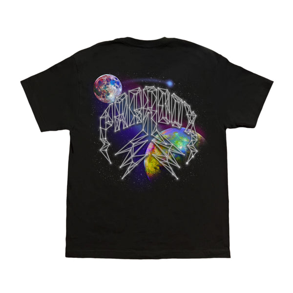 """GALAXY"" LIGHTNING ARC LOGO TEE (BLACK)"