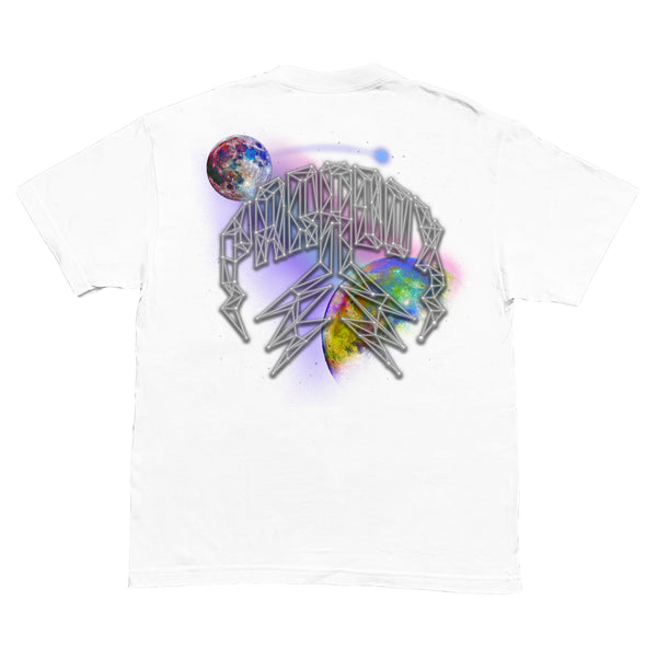 """GALAXY"" LIGHTNING ARC LOGO TEE (WHITE)"