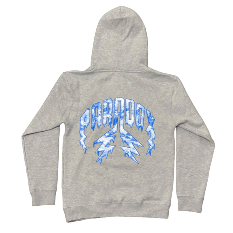 "Lightning Arc Logo Pull-Over Hoodie Grey ""ICE"""