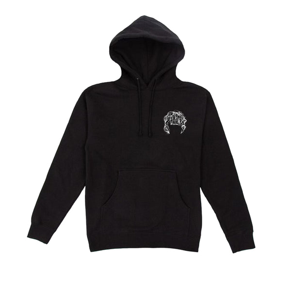 """ELECTRIC"" LIGHTNING ARC LOGO HOODIE (BLACK/WHITE)"