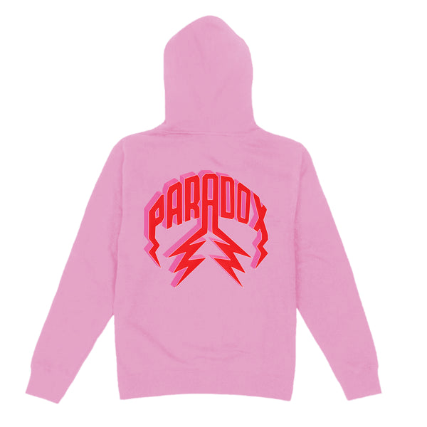 """PRDX LOVE SIGN"" LIGHTNING ARC LOGO HOODIE (PINK)"