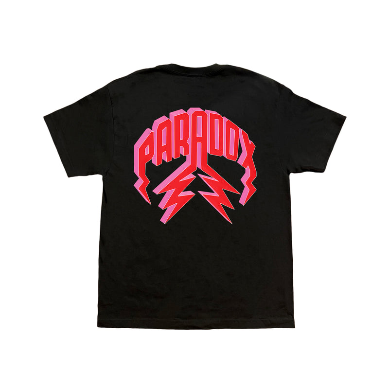"""PRDX LOVE SIGN"" LIGHTNING ARC LOGO TEE (BLACK)"