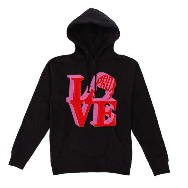 """PRDX LOVE SIGN"" LIGHTNING ARC LOGO HOODIE (BLACK)"