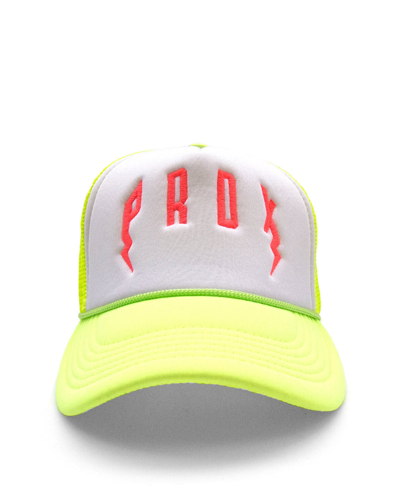 PRDX Trucker Hat (Neon Yellow/Pink)